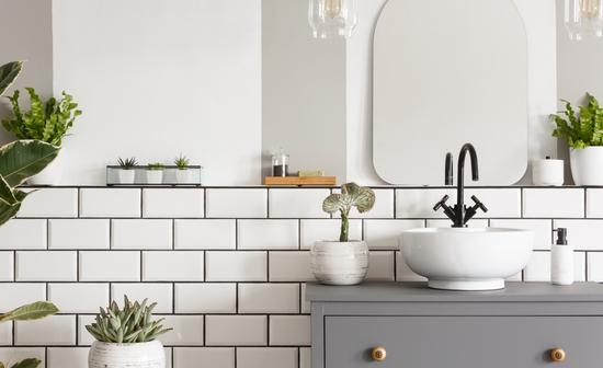 Bathroom whitetiles